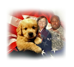 ECAD dog with military service members